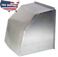 Weather Hood Cover 16 Galvanized Steel Fits 16 Inch Diameter Wall Exhaust Fan