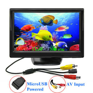5-034-TFT-LCD-CCTV-Monitor-5V-2A-USB-Power-Mini-Bildschirm-800-480-AV-Eingang-New