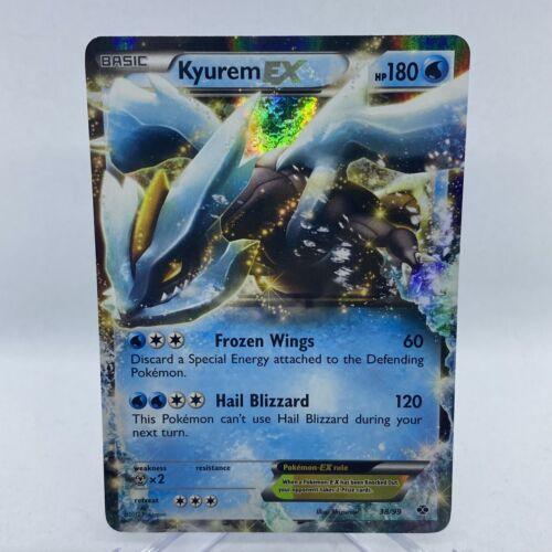 NM Pokemon KYUREM EX Card NEXT DESTINIES Set 38/99 Black and White BW Ultra Rare