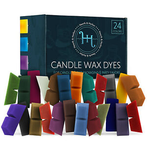 Candle Dyes for Candle Making 24 Color Blocks Candle Wax Dye Nontoxic