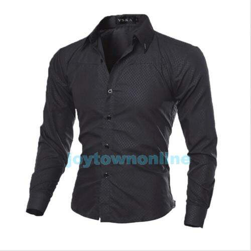 Men/'s Long Sleeve button-front new Casual Slim Fit Luxury Stylish Dress Shirts