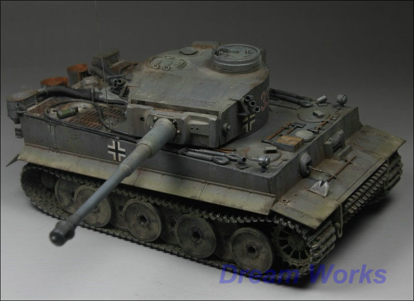 Vinnare av priset Built TAMIYA 1 35 Tyska Tiger Heavy Tank PE