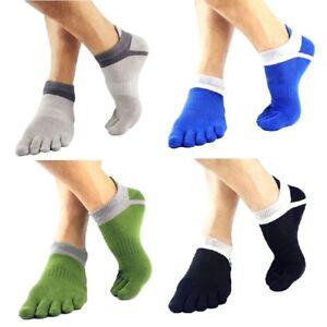 Herren-Socken-Baumwollmischung-Breathable-Five-Toe-Finger-Socken-Soft-Socken-Neu