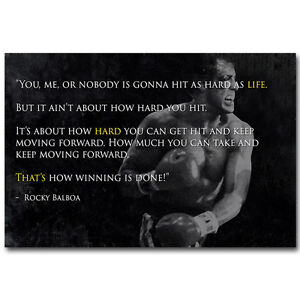 Details About Rocky Balboa Motivational Quote Silk Poster 12x18 24x36inch Sylvester Stallone 7