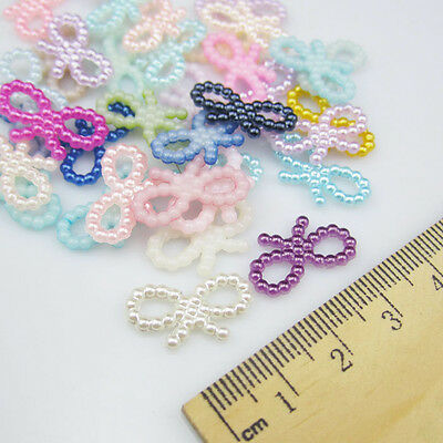 DIY NEW 50pcs Resin bow-knot mixed Scrapbooking For making phone crafts making