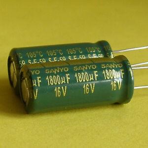 Sanyo 16V 1800uF Low Esr Electrolytic Capacitor x 5 New