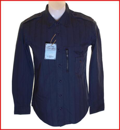BNWT Da Uomo Autentico Wrangler Camicia a Maniche Lunghe Piccolo Nuovo Rrp £ 59.99 Navy Blue