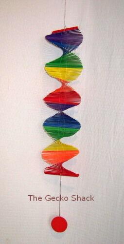 Rainbow Spiral Twister Mobile perfect for verandah sun room kids room 120cm