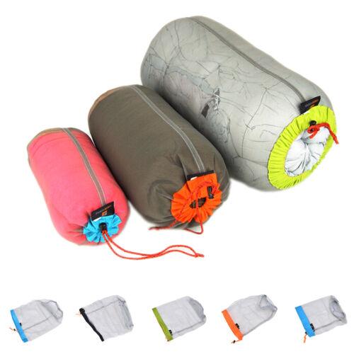 Outdoor Bag Ultralight Mesh Stuff Sack Camping Sports Drawstring Storage*BaR ji