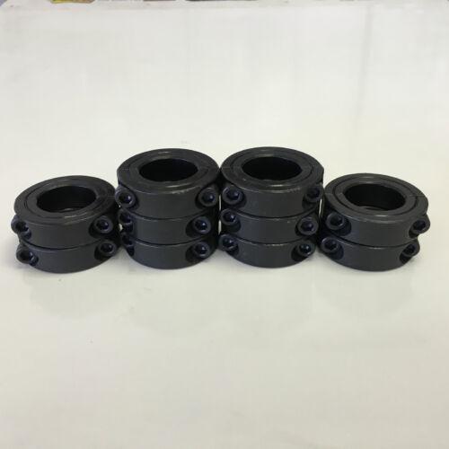"Black Oxide Finish 100pcs 2SC-100 SC100D 1/"" Inch Double Split Shaft Collar"
