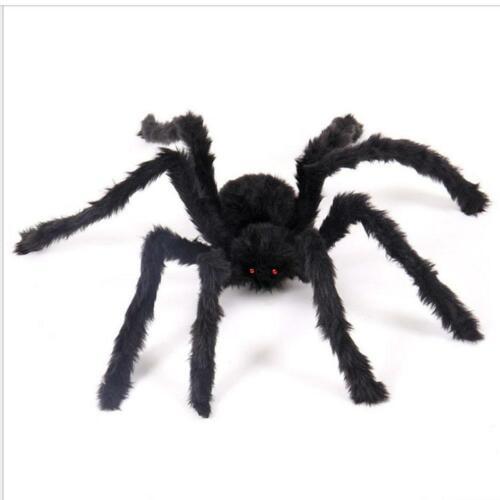 Hot 75cm Large Black Fake Spider Plush Puppet Toy Halloween Decoration Brand New
