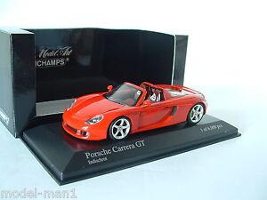 Minichamps-1-43-Porsche-Carrera-GT-2003-Indischrot-Red-400-062632