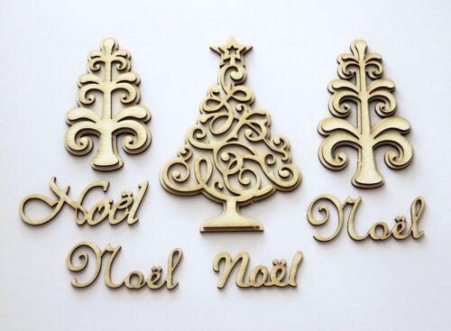 sapin de Noel DIE CUT die cuts CHIPBOARD decoration