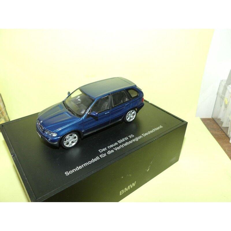 BMW X5 4,4i E53 blue  MINICHMAPS 1 43