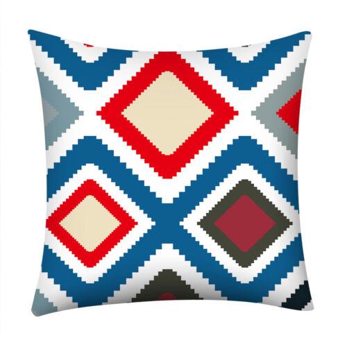 Geometric Print Pillow Case Home Decor Polyester Sofa Car Waist Cushion Cover