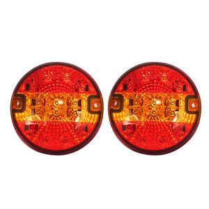 2x-LED-Rueckleuchte-Rund-3-Funktion-Ruecklicht-Anhaenger-PKW-LKW-12V-24V