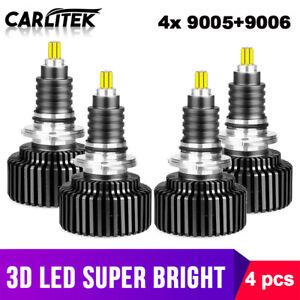 9006 LED Headlights for 2001-2006 GMC Sierra 1500 High Low Beam 4x 6500K 9005