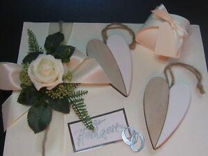 Schöne Verpackung Geldgeschenke Hochzeit Herz Creme Ebay