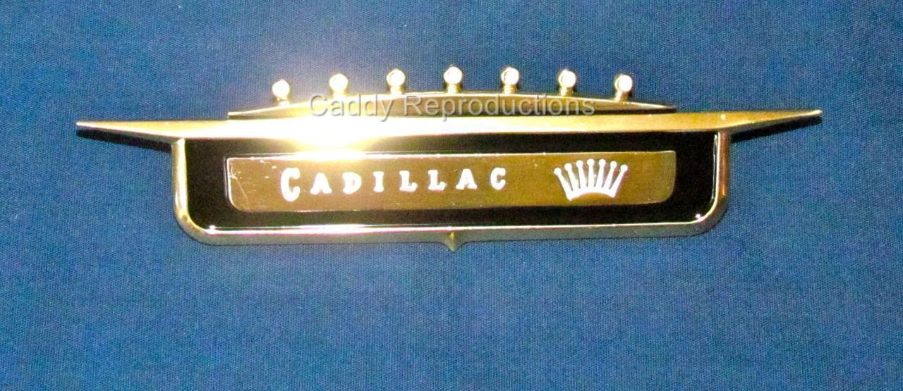 1958 58 Cadillac Front Kotflügel Embleme Abzeichen Abzeichen Abzeichen Crest One 8628a2