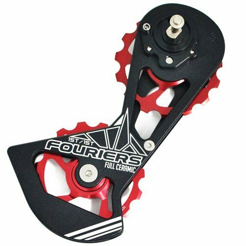 FOURIERS Full Ceramics Derailleur Cage w/ Pulley Drivetrain For SRAM Red , Red