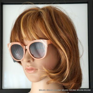 495c2ec01a0 Image is loading 19V69-ITALIA-013-ELENA-VERSACE1969-Sunglasses-Peach-Gold