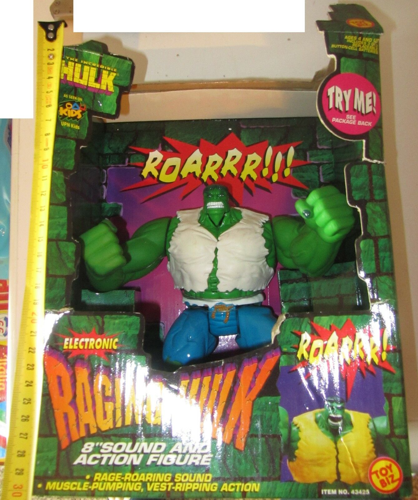 Raging Hulk Toy Biz Marvel Action Figure posabile snodato