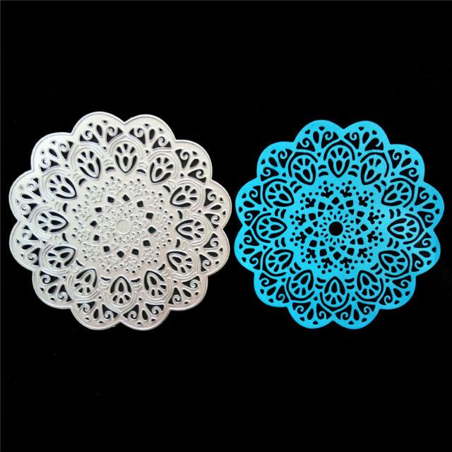 Circle Flower Framed Metal Cutting Dies Stencil Scrapbook Paper Cards Craft  Z