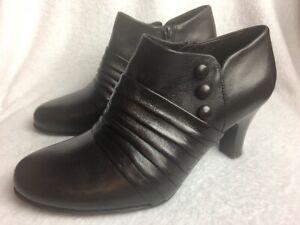 Nurture-Women-039-s-Size-9-M-Ankle-Boots-Brown-Leather-Zip-Fashion