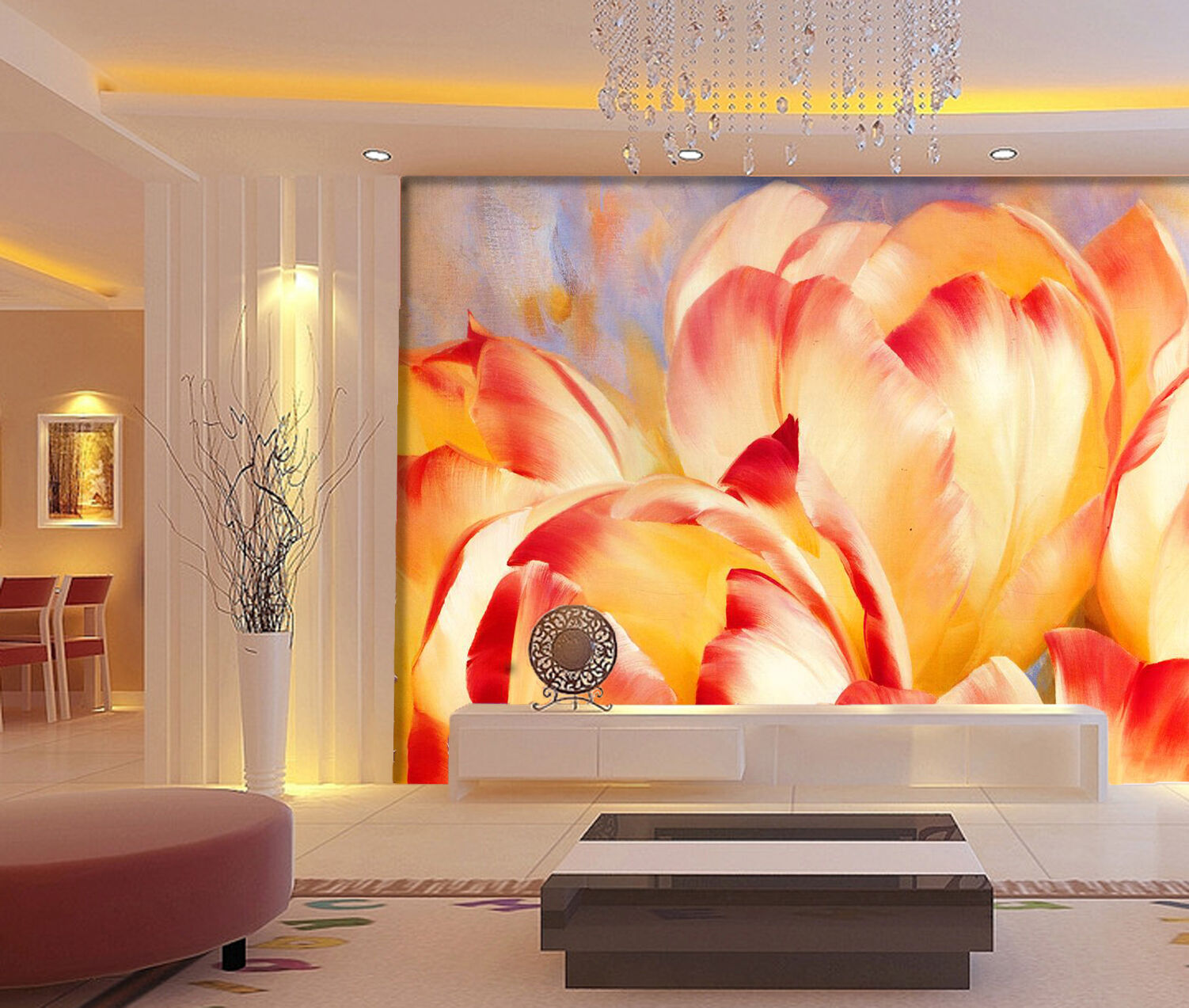 3D Blooming Flowers 2905 Paper Wall Print Wall Decal Wall Deco Indoor Murals