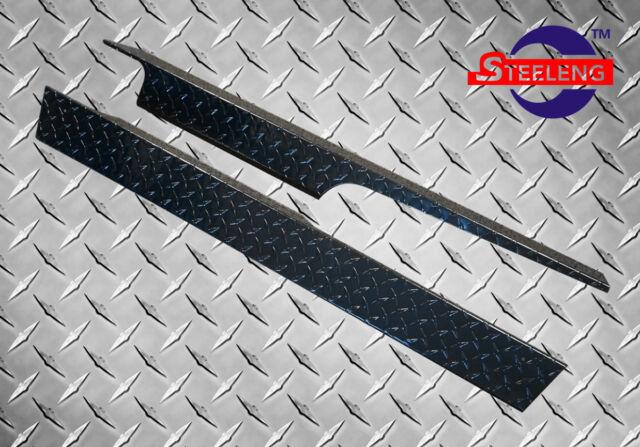 Black Aluminum Diamond Plate Rocker Panel for Club Car Golf Cart DS 82-Up
