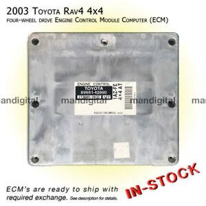 Image Is Loading 2003 Toyota Rav4 Engine Computer 4wd 4x4 Ecm