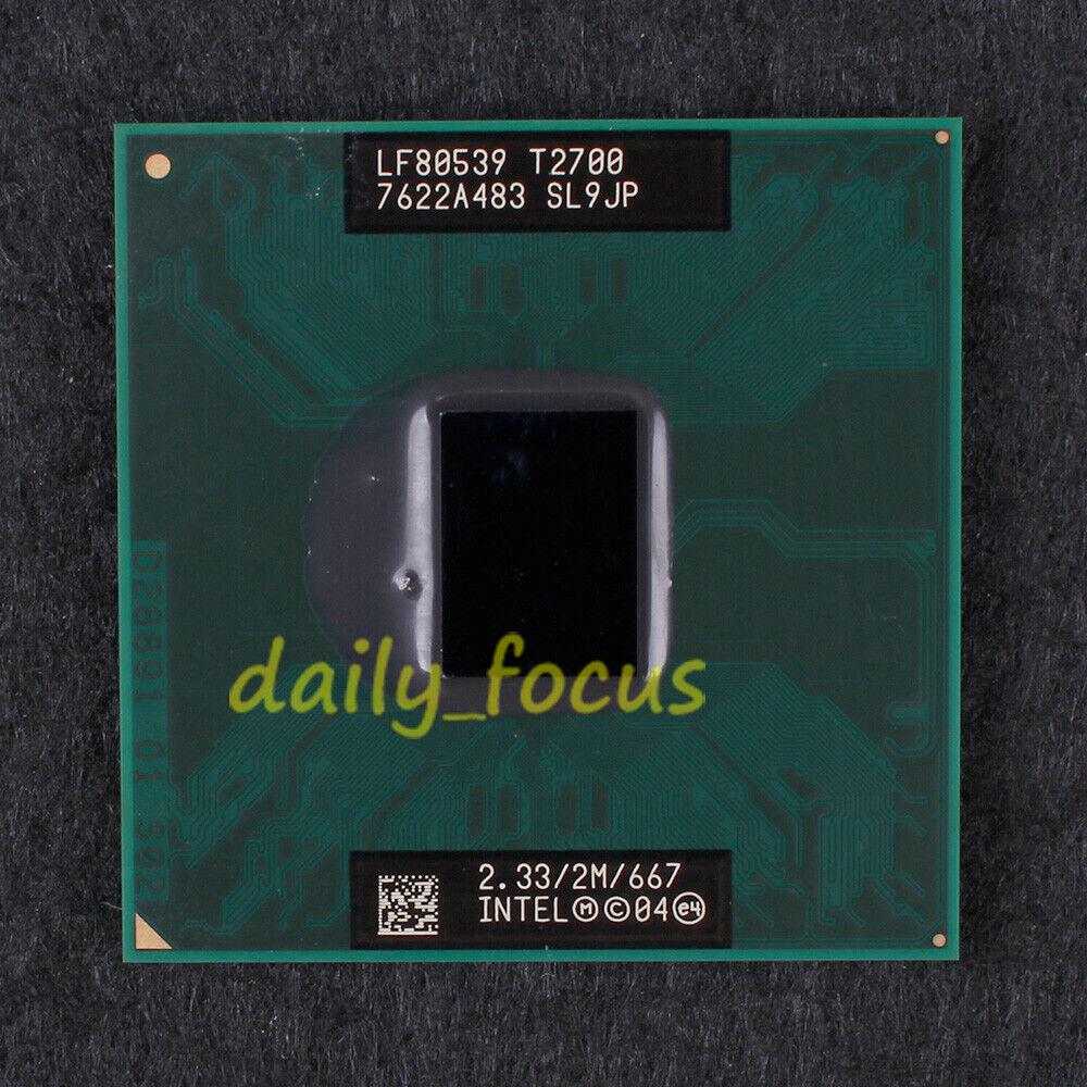Intel Core DUO Yonah T2700 SL9JP 2.33G 2MB Socket M CPU Processor