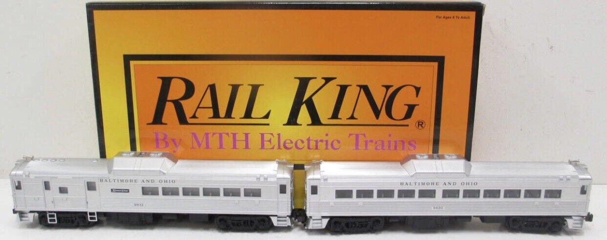 MTH Railre Baltimore & Ohio RDC Budd autovettura Set ProssoOsuono si adatta Lionel