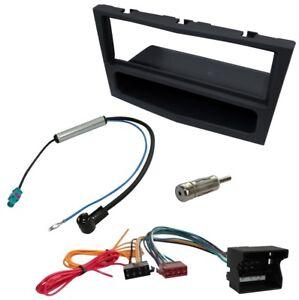 Kit-Adaptateur-Autoradio-Cadre-noir-1-DIN-Cable-Faisceaux-compatible-avec-Opel