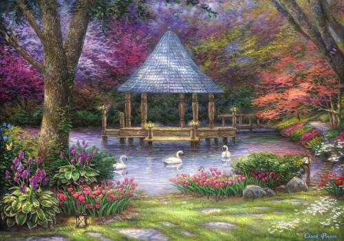 63166 Puzzle Grafika 1000 Teile Chuck Pinson Swan Pond