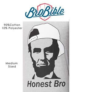 BroBible-Brand-Medium-Grey-034-Honest-Bro-034-Abraham-Lincoln-Tee-Shirt