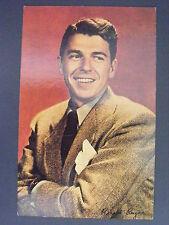President Ronald Reagan Portrait As Actor Color Postcard 1980s Vintage
