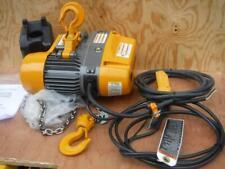 New Harrington H4 Seq010sd 20 1 Ton 20ft Lift 115 Volt 2 Speed Chain Hoist 2000