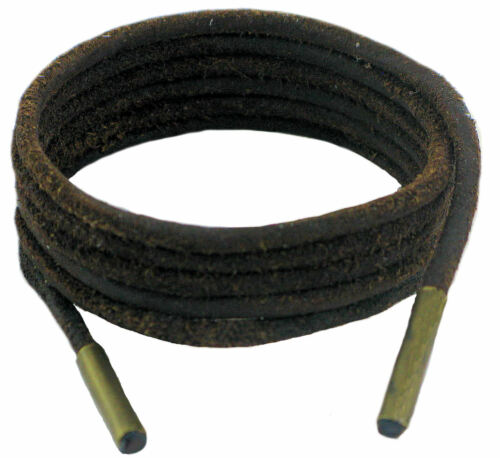 Shoe and Boot Laces Dark Brown 3 mm Round Leather 45 cm-120 cm