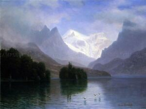 PAINTING-LANDSCAPE-BIERSTADT-MOUNTAIN-SCENE-LARGE-REPLICA-POSTER-PRINT-PAM2088