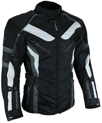 XL HEYBERRY Kurze Textil Motorrad Jacke Motorradjacke Schwarz Orange Gr