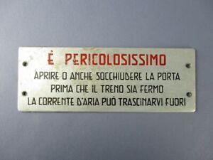 Antique-Nameplate-Metal-Sign-Plaque-Notice-Warning-Train-FS-Classic-Xx-Sec