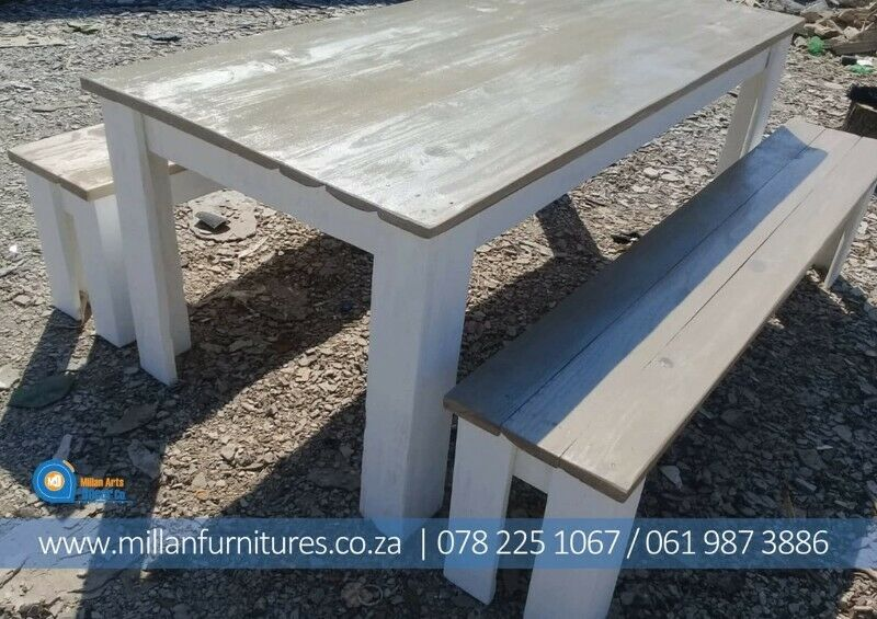 CHAMPIONS DINNING TABLES AND BENCHES SETS.