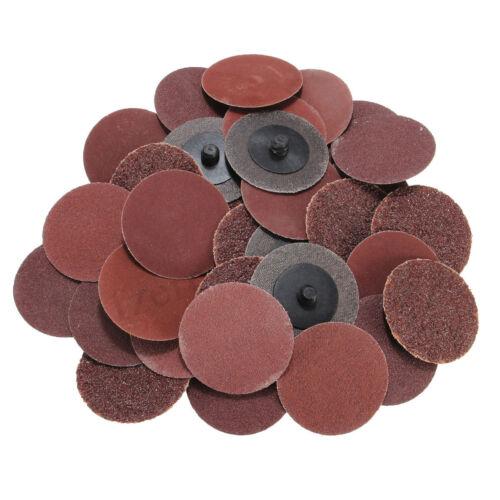 "40Pcs 40//80//120//240 Grits 2/"" Roloc Type R Sanding Abrasive Disc For Polishing !"