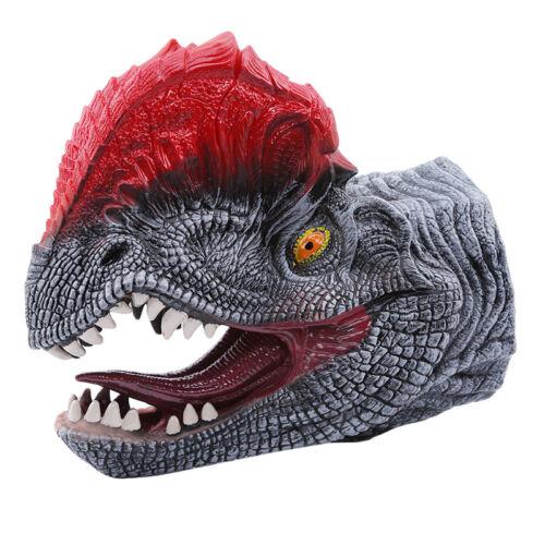 Hot Soft Hand Gloves Cosplay Toys Simulation Dinosaur Puppet Dino Animal Head C