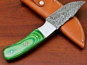 Rody Stan HAND MADE DAMASCUS SKINNING HUNTING KNIFE - FULL TANG - PK-840