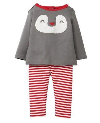 Gymboree ARCTIC PALS Penguin Two Piece Set Unisex Baby Boy Sz 6-12 Months New