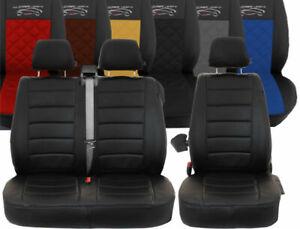 Renault Master Kasten Passform Autositzbezüge Kunstleder Rote Naht