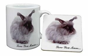 Angora-Rabbit-039-Love-You-Mum-039-Mug-Coaster-Christmas-Birthday-Gift-Idea-AR-8lymMC