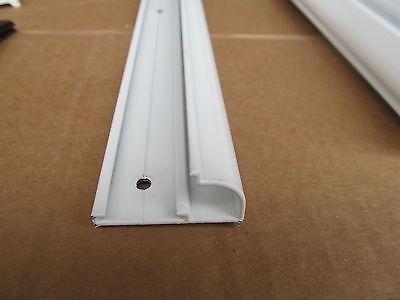 """74"""" White Aluminum Vinyl Insert Type Gutter Drip Rail Trim Molding 1 1/2"""" RV"""